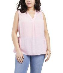 plus size sleeveless sheering rumple blouse