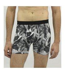 cueca boxer forest black emporio alex malha multicolorido