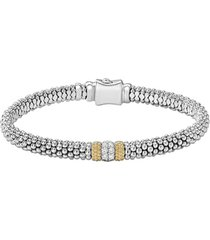 women's lagos diamond lux pave station 6mm bracelet