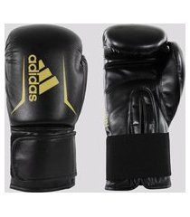 luva de boxe e muay thai adidas speed 50 preta e dourada