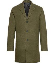 6209615, jacket - sdfayette fauxwoo wollen jas lange jas groen solid
