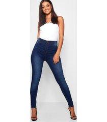 tall mid rise skinny jeans, dark blue