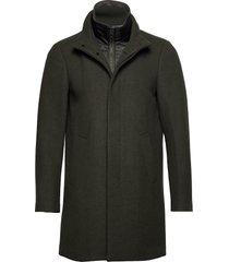 harvey n classic wool wollen jas lange jas groen matinique