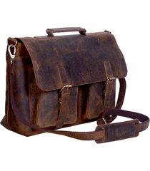 komalc 15 inch retro buffalo hunter leather laptop messenger bag christmas sale