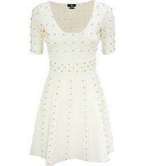 gebreide mini-jurk met kleine studs