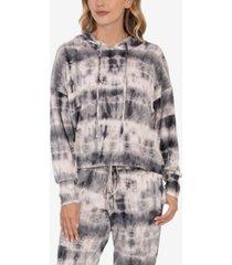 tie dye print women's hacci hoodie