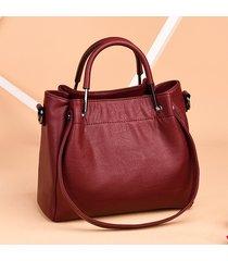 elegant women pure color shoulde borsa borsa a tracolla borsas