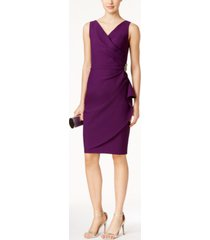alex evenings compression embellished ruched sheath dress