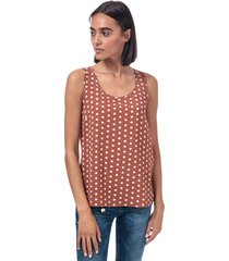 only womens nova lux polka dot top size 8 in brown