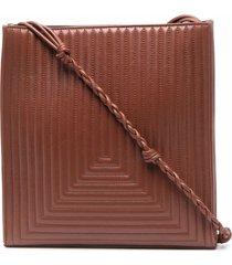 jil sander quilted tangle shoulder bag - 225 brown