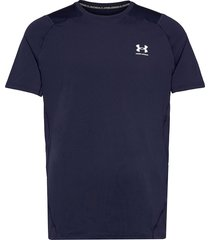 ua hg armour fitted ss t-shirts short-sleeved blå under armour