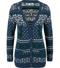 cardigan con motivi norvegesi (blu) - bpc bonprix collection