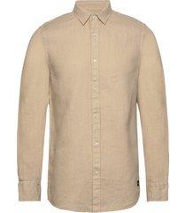 regular fit- classic linen dress shirt overhemd casual beige scotch & soda