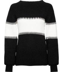 maglione bicolore (nero) - rainbow