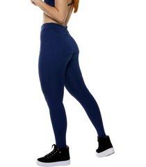 calça legging miss blessed premium sobreposta azul escuro