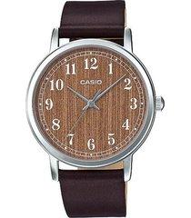 reloj analógico mujer casio ltp-e145l5b2 - marrón  envio gratis*