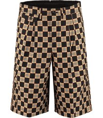 burberry jacquard cotton bermuda shorts