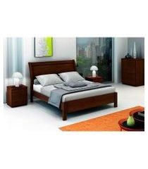cama de casal elegance 1,40 nocciola móveis fazzio marrom