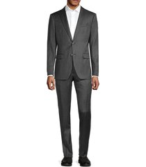 john varvatos star u.s.a. men's standard fit wool suit set - charcoal - size 44 r