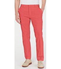 tommy hilfiger men's modern-fit th flex stretch comfort solid dress pants