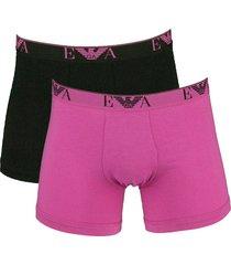 armani boxershort ea 2-pak zwart-pink