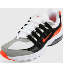 tenis lifestyle blanco-gris-naranja nike air max vg-r