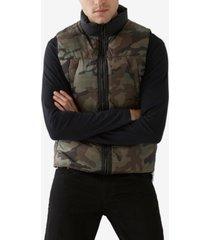 true religion men's camo puffer vest
