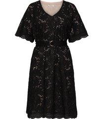 zoe dress knälång klänning svart underprotection