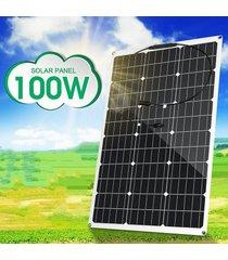 panel solar monocristalino 100w 18v flexible etfe conector y carro de carga para autocaravanas barco iluminación exterior - negro