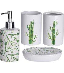 zestaw łazienkowy komplet łazienkowy bamboo