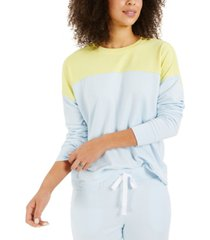 style & co petite colorblocked sweatshirt, created for macy's