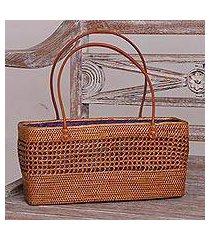ate grass handle handbag, 'radiant swirls' (indonesia)