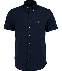 gant overhemd korte mouw donkerblau 3046401/410