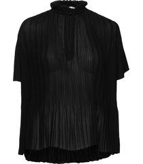 lady ss blouse 6621 blouses short-sleeved zwart samsøe & samsøe