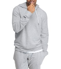 men's swet tailor stretch cotton hoodie, size medium - grey