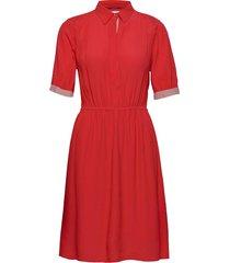 ss elastic waist shi jurk knielengte rood calvin klein