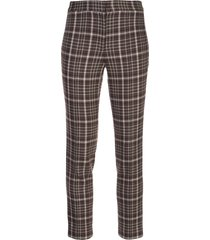 adam lippes plaid cropped trousers - brown