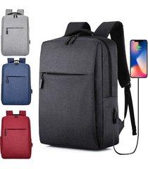 mochila de carga usb para hombres y mujeres bolsa de computadora de