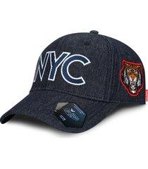gorra oc caps clásica nyc azul denim
