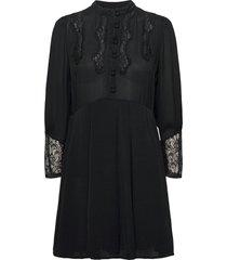 elegant lace mini dress kort klänning svart by ti mo