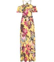 abito lungo con volant (giallo) - bodyflirt boutique