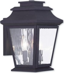 closeout! livex hathaway 2-light large outdoor wall lantern