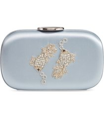 giambattista valli zodiac embellished clutch - blue