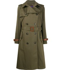 ralph lauren collection belted double breasted silk trench coat -