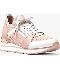 mk sneaker billie in maglia - rosa tenue (rosa) - michael kors