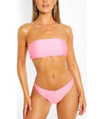 mix & match bandeau bikini top, peach