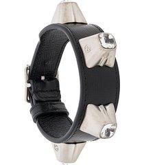 gucci crystal stud bracelet - black