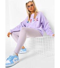 basic jersey leggings met hoge taille, lilac