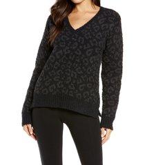 women's ugg cecilia v-neck sweater, size x-large - black
