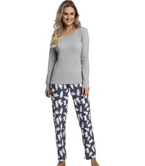 pijama recco de bionature e moletinho marrom